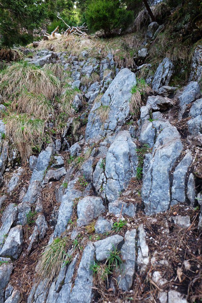 Kraxelei auf dem Weg zum Rauhen Kopf/ Berchtesgadener Alpen