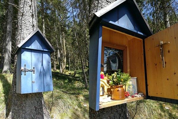 Das Blaue Kastl am Weg zum Rauhen Kopf/ Berchtesgadener Alpen