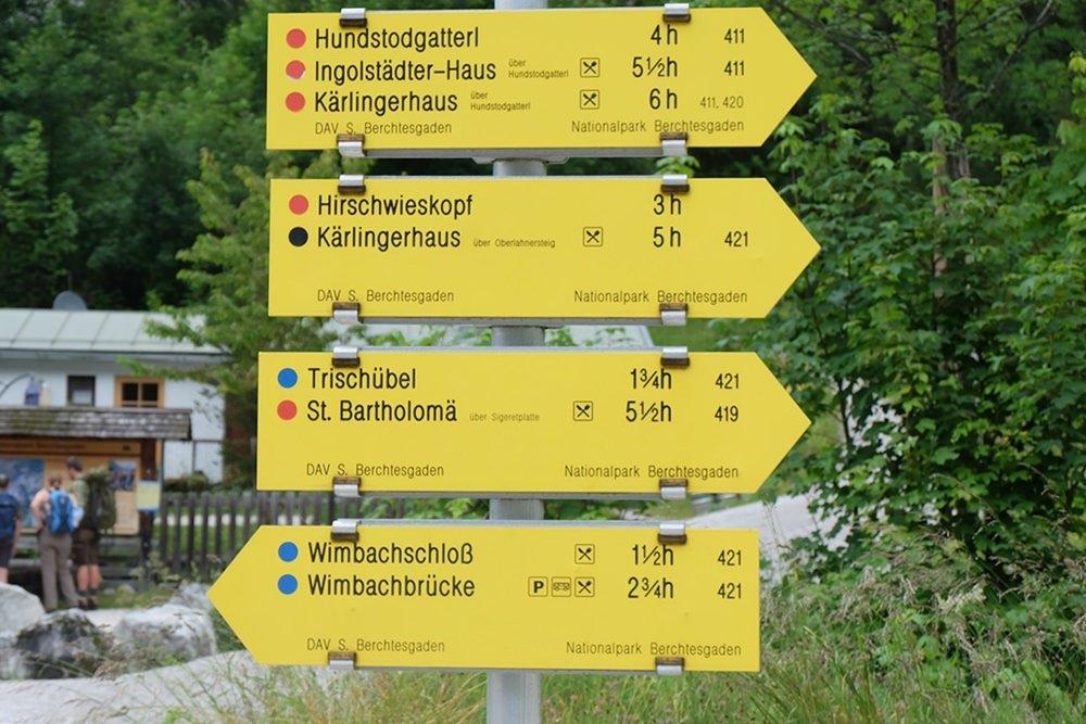 Eine große Auswahl an Zielen, auch wenn das Wimbachgries scheinbar das Ende der Welt ist.