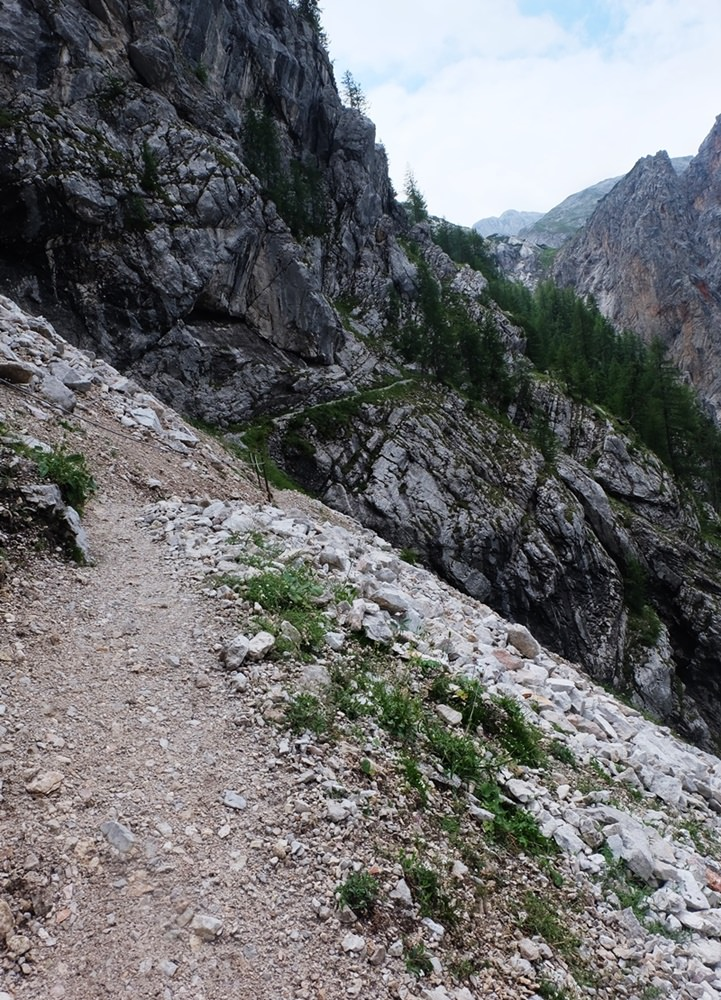 Am Talschluss des Wimbachgries, es geht aufwärts zum Hirschwieskopf.