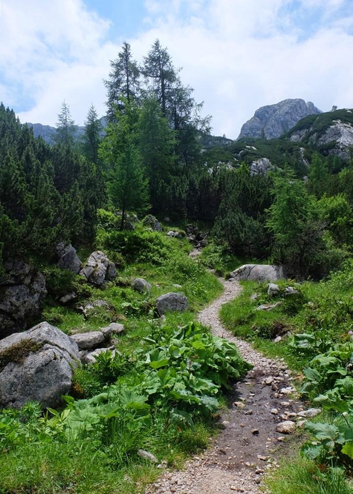 Einsame Pfade, weit weg von der Zivilisation: durchs Wimbachgries zum Hirschwieskopf in den Berchtesgadener Alpen.