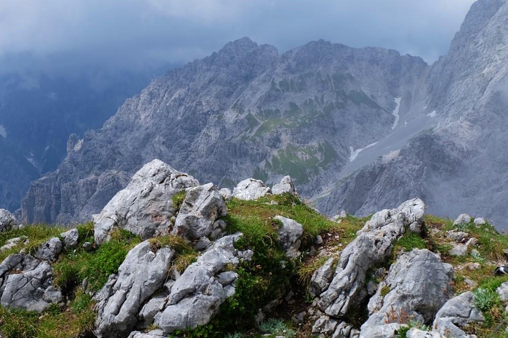 Blick zum Watzmann vom Hirschwieskopf-Gipfel.