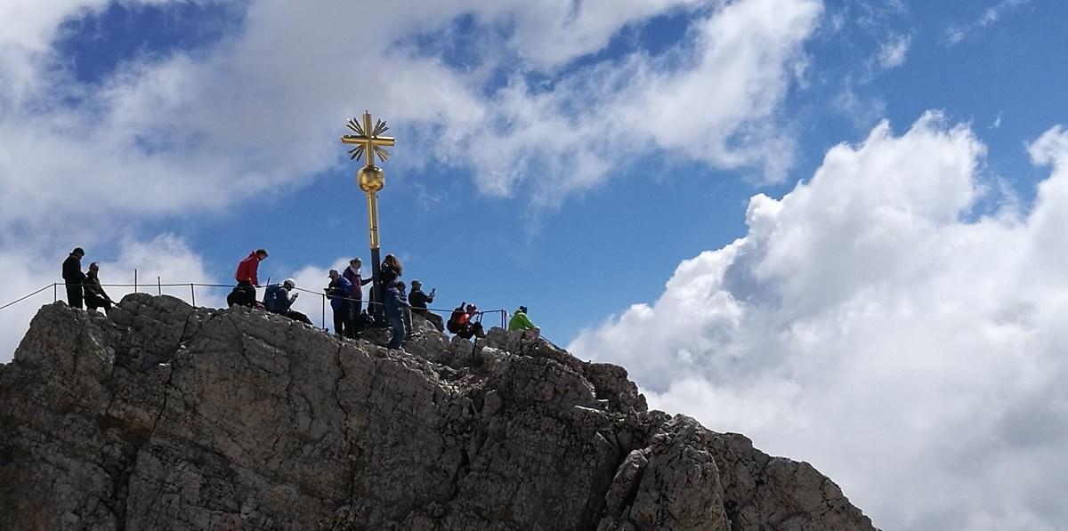Gipfelbuch: Zugspitze über den Stopselzieher Klettersteig / Wiener Neustädter Hütte/ Eibsee