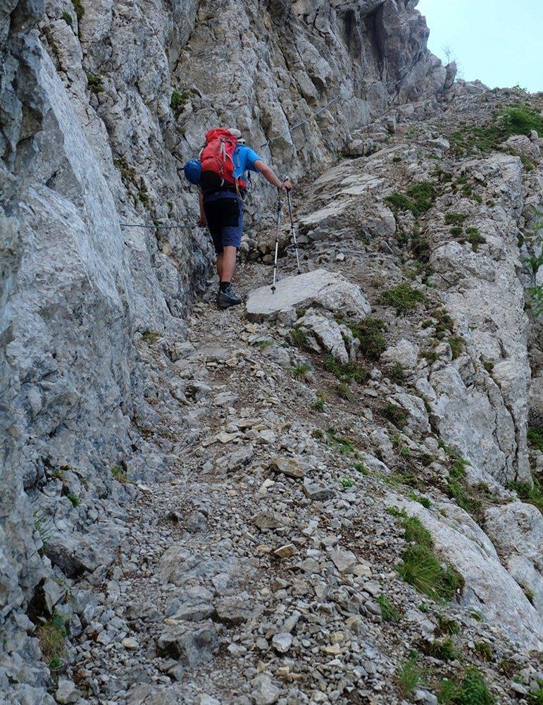 Ausgesetzt und seilversichert, aber schön breit: vom Eibsee zur Wiener Neustädter Hütte | Zugspitze