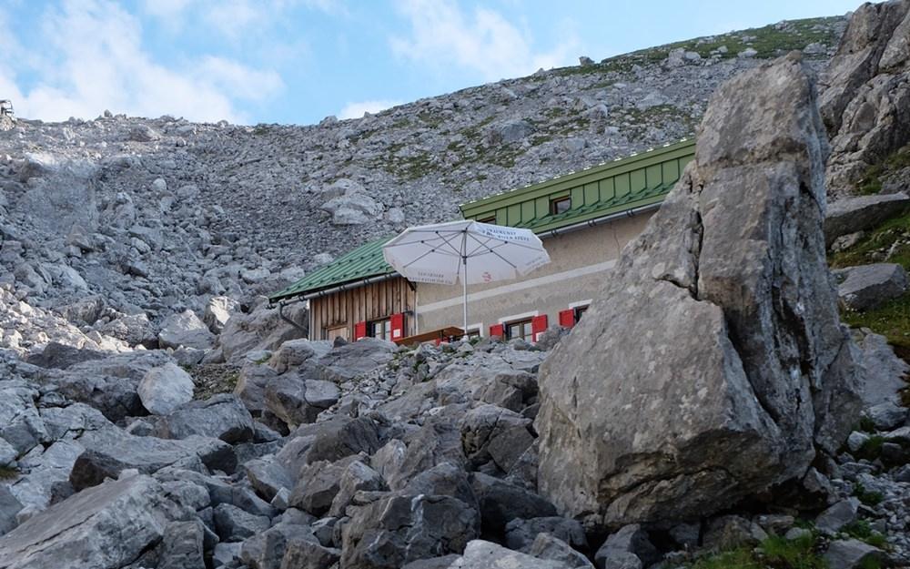 Tatsächlich: Hütte in Sicht! | Wiener Neustädter Hütte/ Zugspitze
