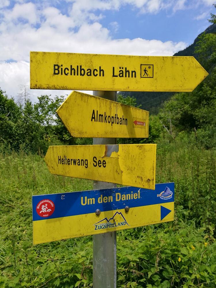 Fahrrad-Wegweiser für Rund um den Daniel | Tirol, Österreich
