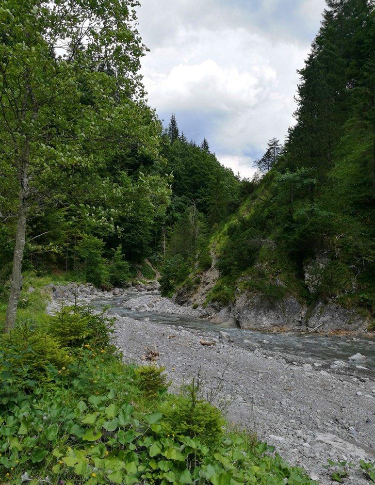 Endspurt von Rund um den Daniel: den Naiderbach entlang nach Griesen