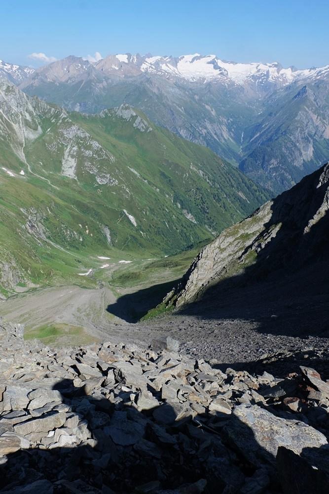 Ein Blick zurück - vom Talschluss ins Lasnitzental, zur Venedigergruppe | Osttirol, Österreich