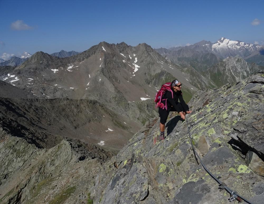 Bergsteigen auf dem Grat zum Lasörling | Hohe Tauern, Österreich