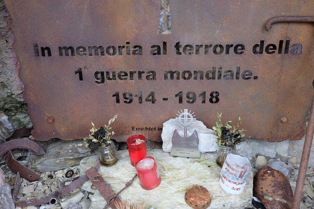 Gedenken an den Kriegsterror des 1.Weltkriegs an der Großen Kinigat | Karnischer Höhenweg