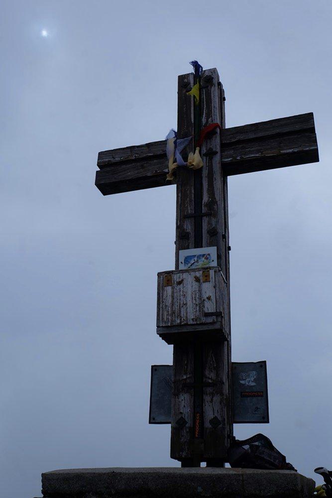 Gipfelkreuz der Pfannspitze | Karnischer Höhenweg