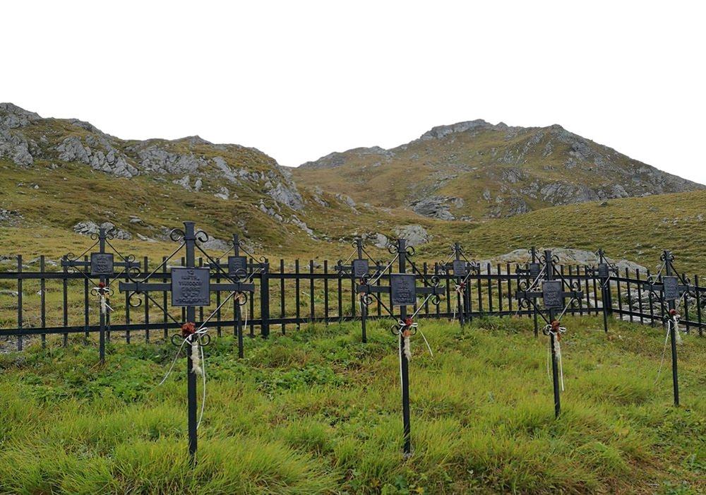 Soldatenfriedhof an der Obstanser See Hütte | Osttirol, Karnischer Höhenweg