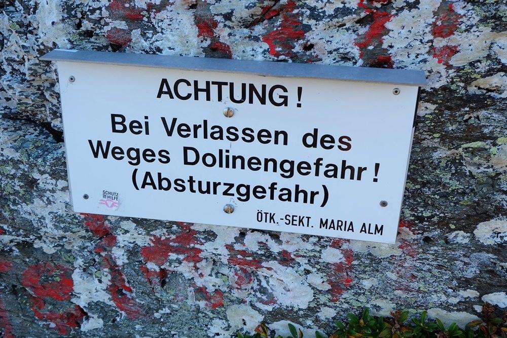 Dolinen-Gefahr an der Schwalbenwand | Pinzgau, Österreich
