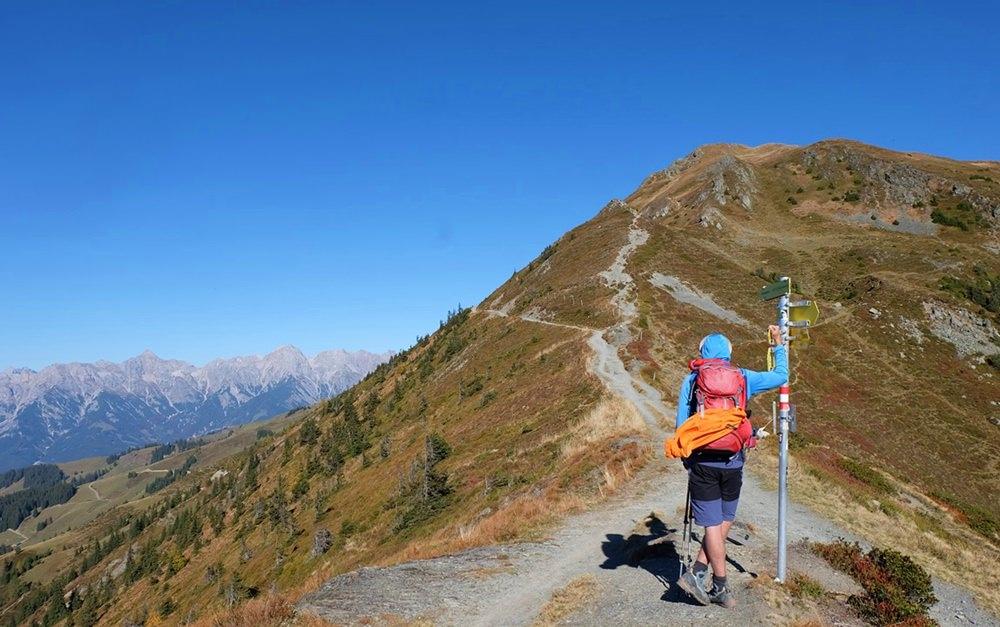 Der letzte Anstieg vom Grat zum Hundstein Gipfel | Pinzgauer Grasberge, Österreich