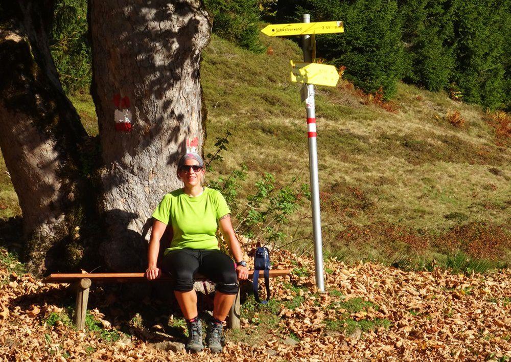 Wer Zeit hat, setzt sich mal kurz unter den Baum in die Herbstsonne | Pinzgau, Österreich