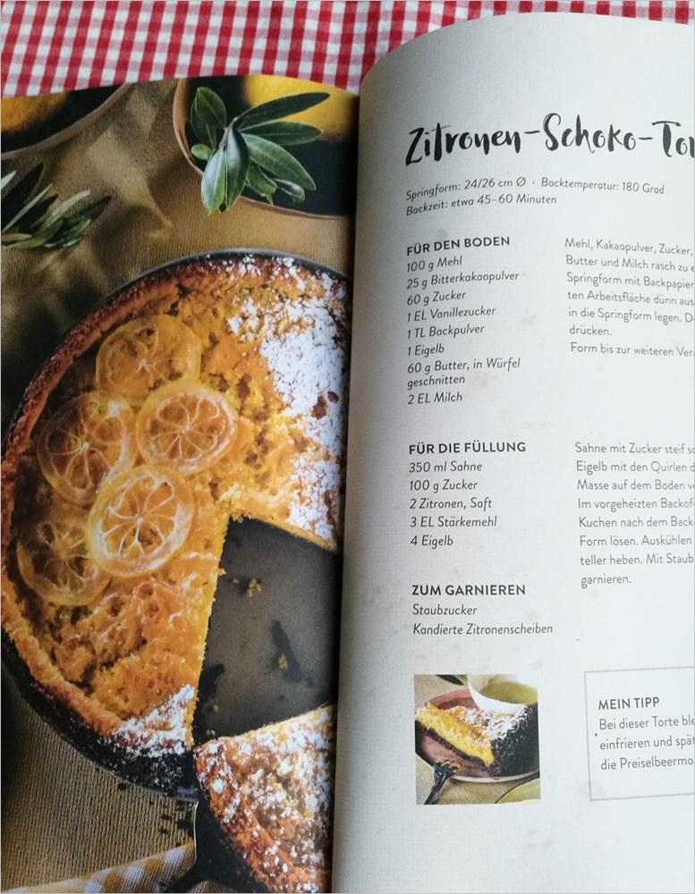 Rezept für Zitronen-Schoko-Torte a la Wally Tschurtschenthaler