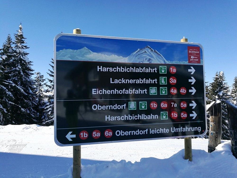 Rote Pisten üben, nichts Blaues zu sehen. | Skigebiet Skistar St. Johann