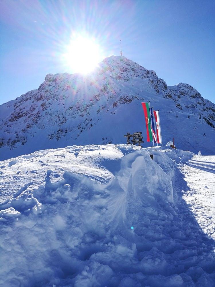 Das Kitzbüheler Horn vom Harschbichl Gipfel (1.604m) aus gesehen. | Skistar St. Johann in Tirol