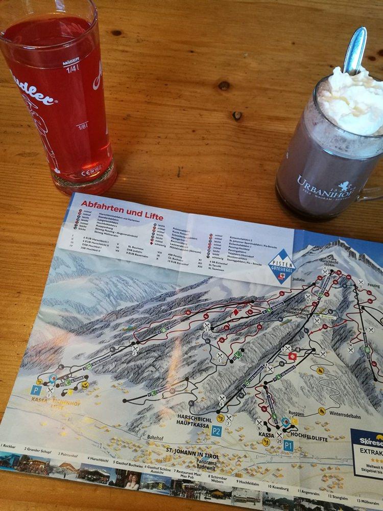 Pause im Gasthaus Harschbichl | Skigebiet Skistar St. Johann
