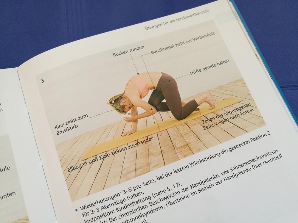 Sehr exakte Beschreibungen einzelner Asanas/ Haltungen im Yoga.