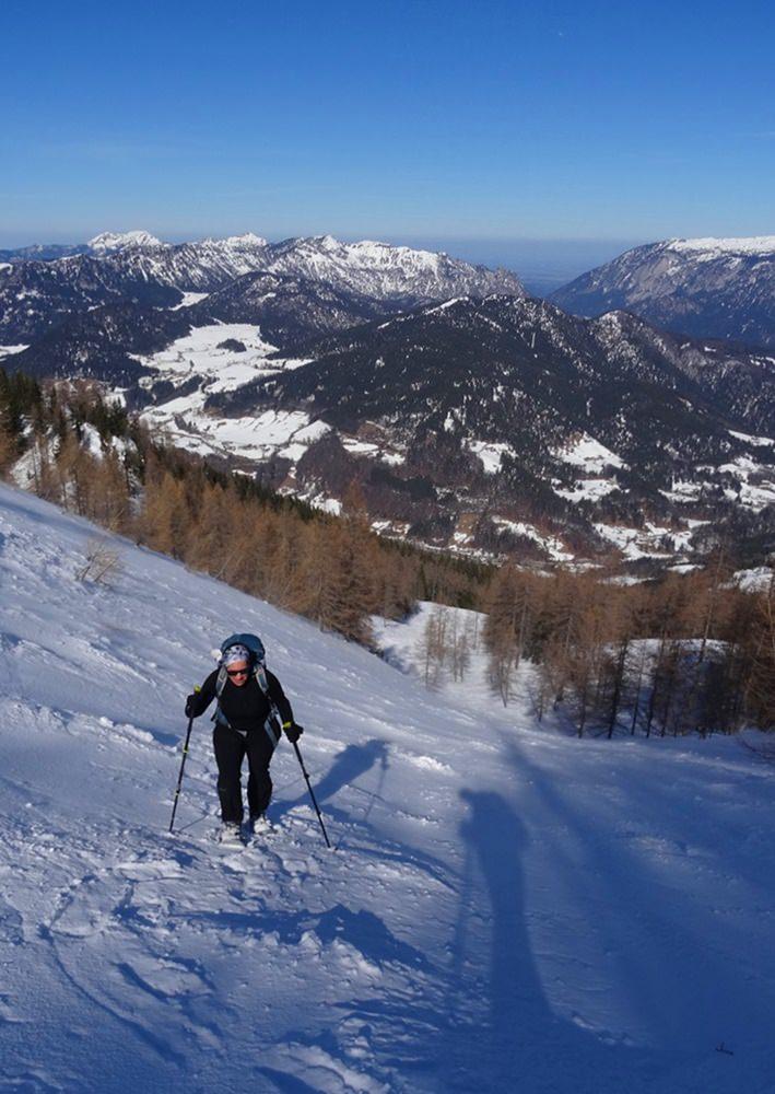 Steiler Anstieg zur Watzmann Gugl | Schneeschuh Tour Nationalpark Berchtesgaden