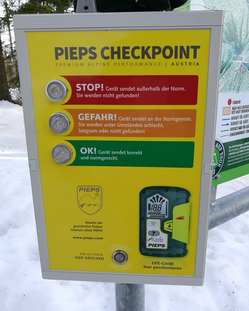 Pieps Check im Nationalpark Berchtesgaden