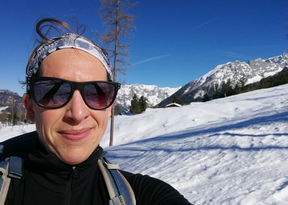 Selfie auf der Stubenalm, Sonne und Schnee genießen | Nationalpark Berchtesgaden