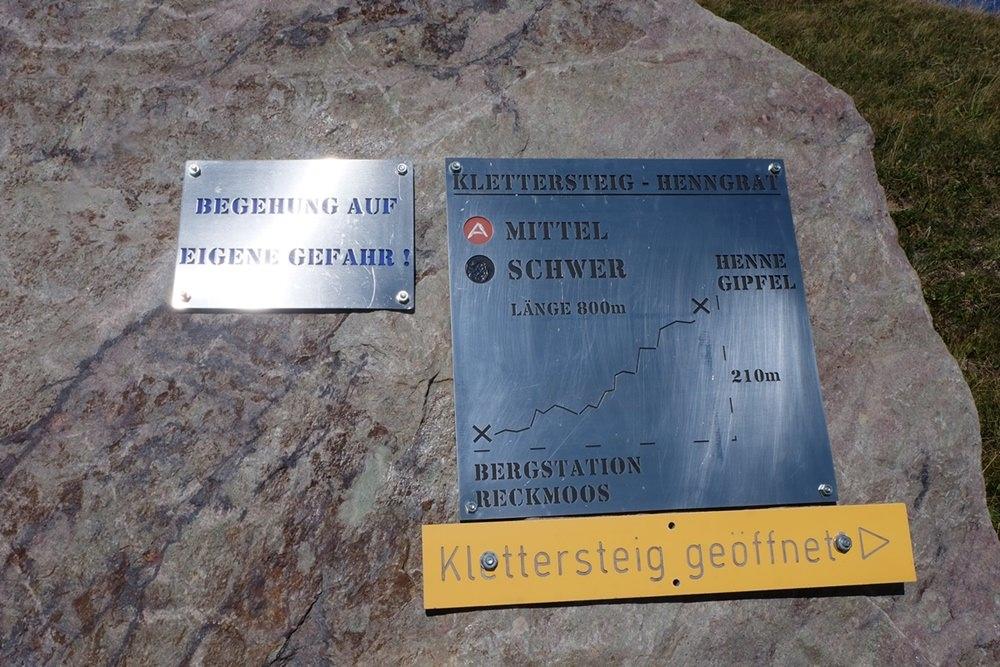 Hier lang zum Klettersteig - Einstieg zur Henne in allen Varianten | Kitzbüheler Alpen, Tirol