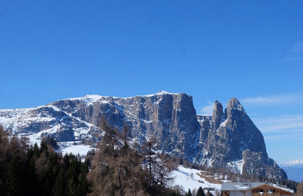 Typische Schlern-Ansicht in Südtirol