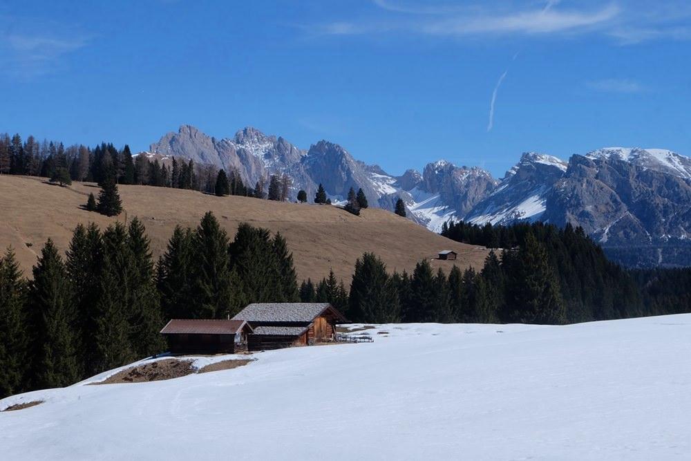 Winter oder Frühling oder beides? Im März auf der Seiser Alm in Südtirol