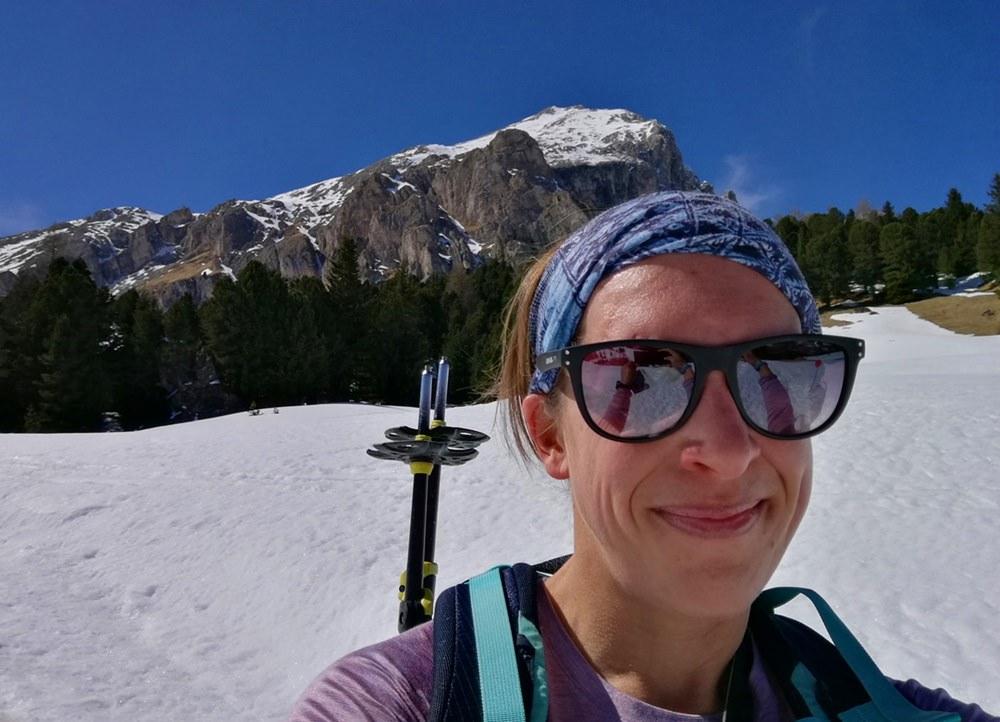 Gipfelglück-Selfie auf der Seiser Alm | Frühling in Südtirol