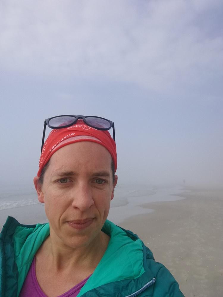 Laufen am Strand von Binz auf Rügen