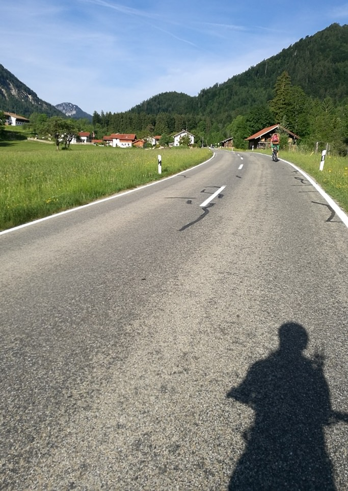 Das erste Stück von Ruhpolding zum Hochgern mit dem Mountainbike