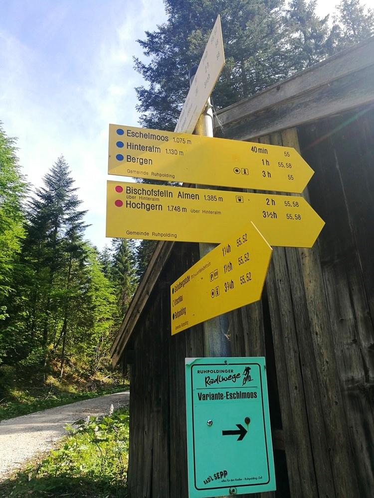 Hier lang ins Eschelmoos | Bike & Hike Hochgern von Ruhpolding