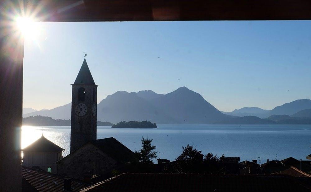 Dachterrasse am Hotel Rosa in Baveno am Lago Maggiore   Italien