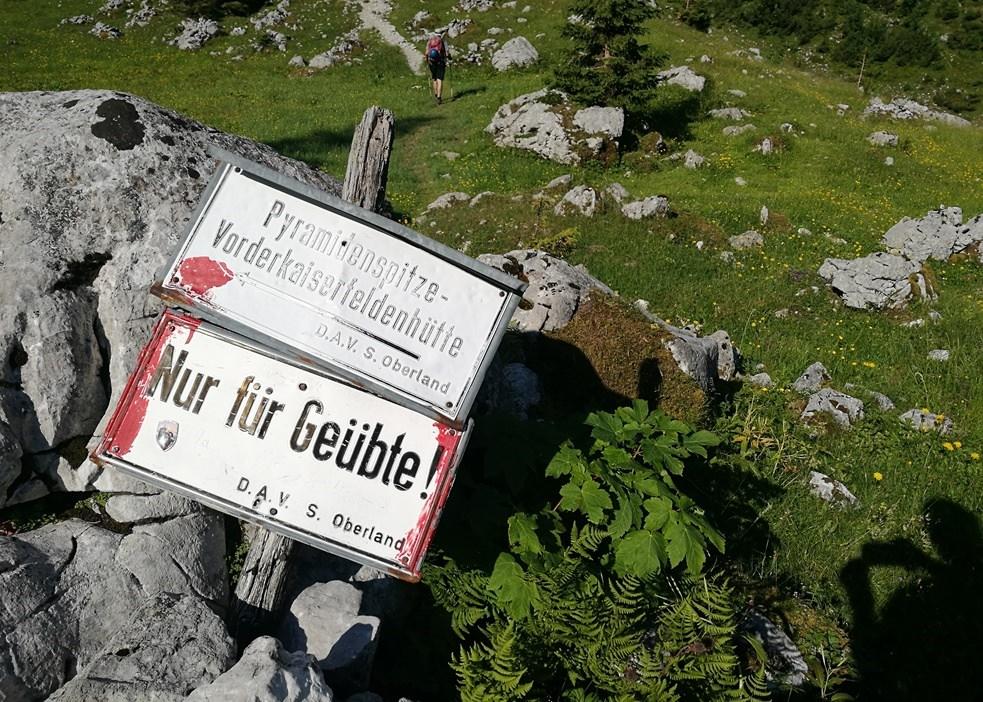 Ab der Winkelalm: nur noch für Geübte | Zahmer Kaiser, Österreich