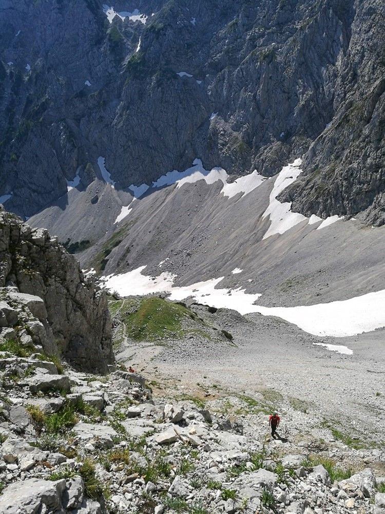 Tiefblick ins Winkelkar im Zahmen Kaiser | Tirol
