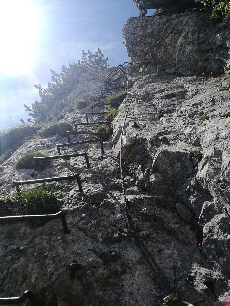 Die Leiter kurz vorm Gipfel der Pyramidenspitze | Österreich