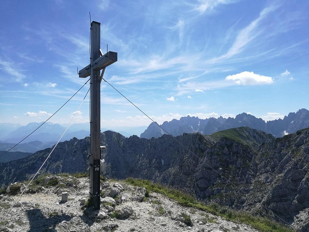 Gipfelkreuz der Pyramidenspitze im Zahmen Kaiser | Tirol, Österreich