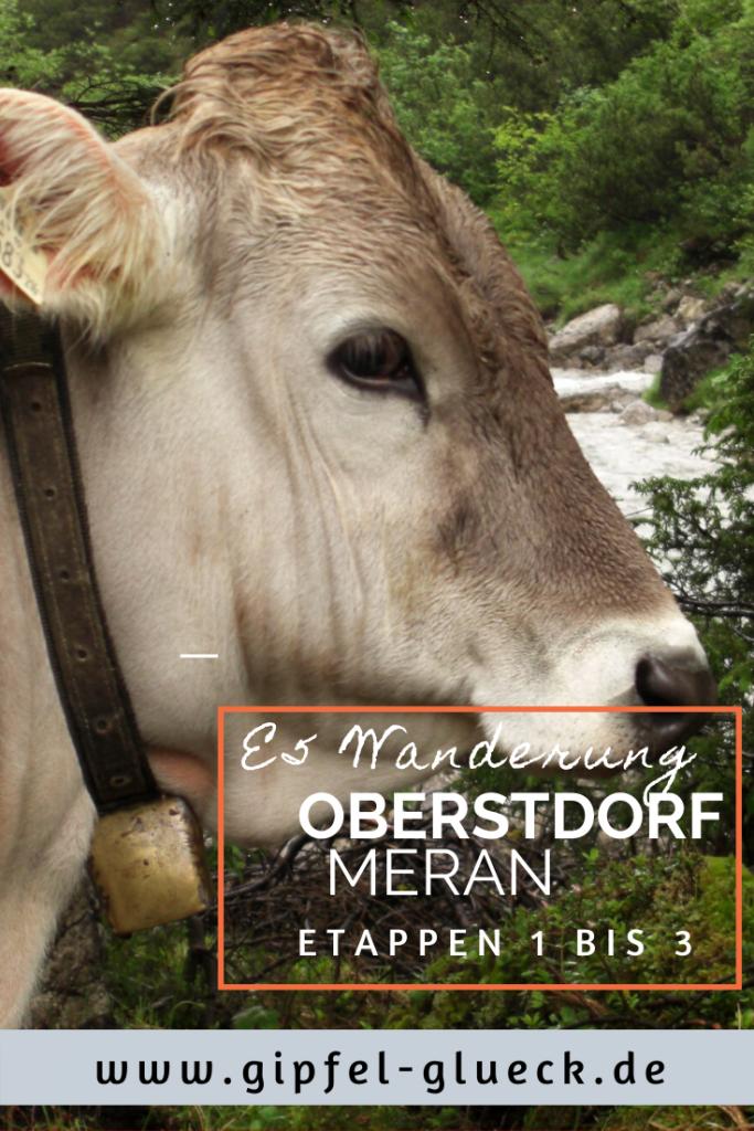 Etappen 1 bis 3 auf dem E5 Oberstdorf Meran