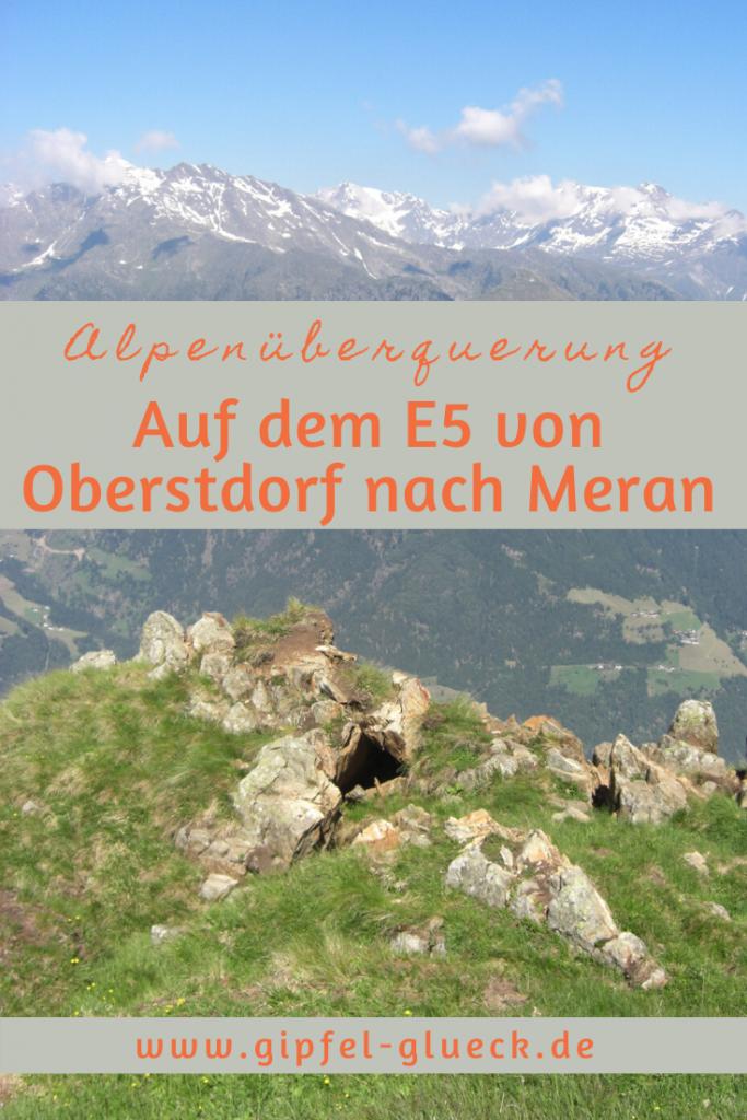 Auf dem Fernwanderwerg E5 von Oberstdorf nach Meran