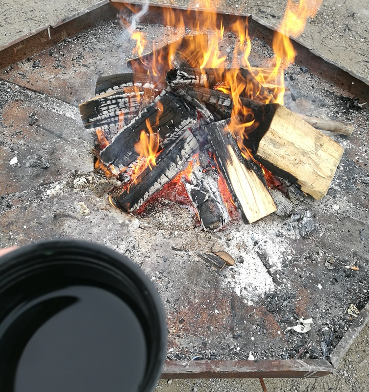 Feuer und Tee am Rauschberg