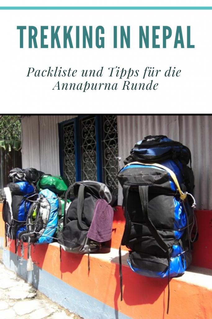 Packliste Nepal Urlaub  - was muss man einpacken für ein Trekking in Nepal