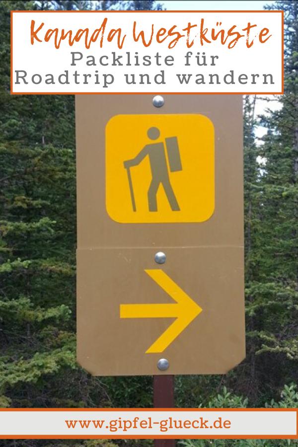 Packliste Wander Urlaub Kanada - was muss man einpacken