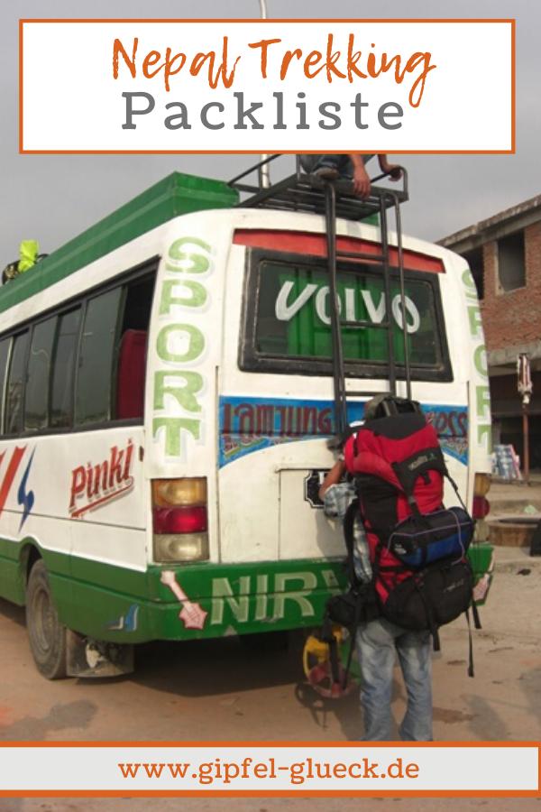 Trekking in Nepal Packliste - was muss man einpacken für Reise nach Nepal