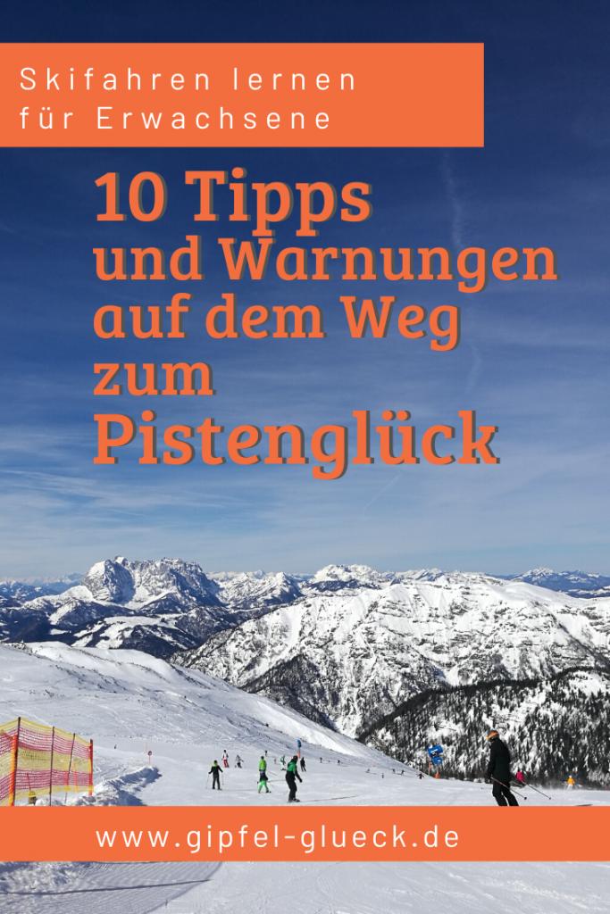 Auf dem Weg zum Pistenglück: skifahren lernen für Erwachsene