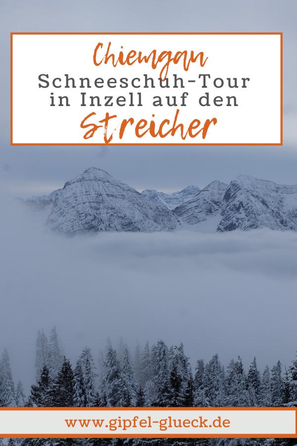 Schneeschuh Wanderung auf den Streicher bei Inzell im Chiemgau