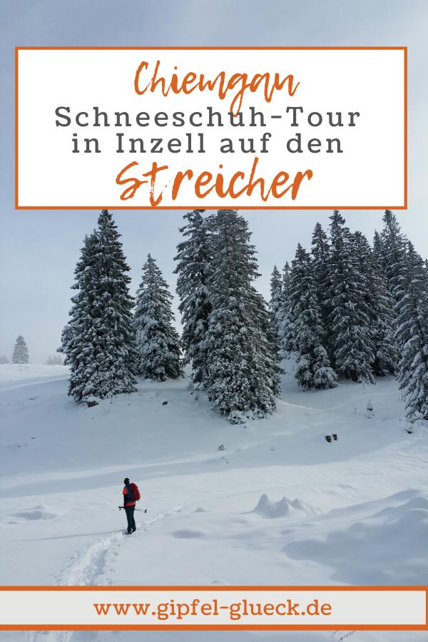 Schneeschuh wandern im Chiemgau - auf den Streicher bei Inzell
