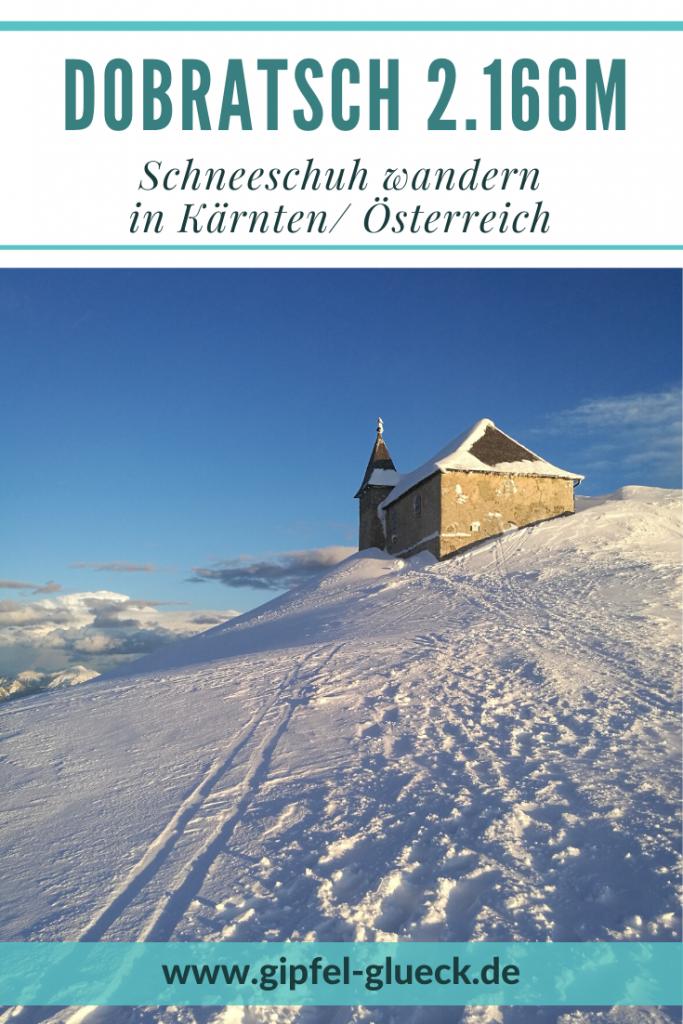 Mit Schneeschuhen auf den Dobratsch in den Gailtaler Alpen, Kärnten, Österreich