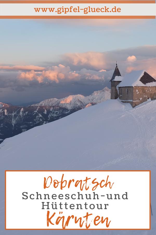 Hüttentour mit Schneeschuhen zum Dobratsch in Kärnten, Gailtaler Alpen, Österreich